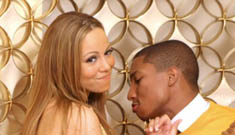 "Mariah and Pharrell in the ""Say Something"" video"