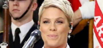 Pink nailed the National Anthem even though she was battling the flu