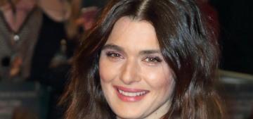 """Rachel Weisz wore some fug Miu Miu curtains to her UK premiere"" links"