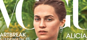 Alicia Vikander is 'more happy & content' now that she's married to Michael Fassbender