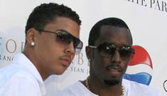 Diddy makes a guy strip at his White Party