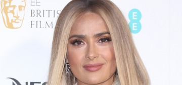 Salma Hayek shows off her new blonde hair at the pre-BAFTA party: love it or hate it?