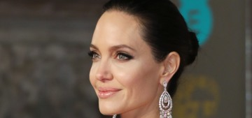 Angelina Jolie in Ralph and Russo at the BAFTAs: stunning or too severe?