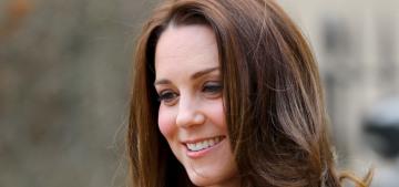 Duchess Kate wears a bespoke Jenny Packham ensemble for a new patronage