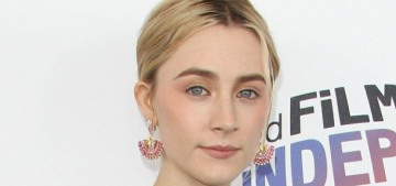 Saoirse Ronan in citrus-y Prada at the Spirit Awards: lovely or tragic?