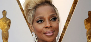 Mary J. Blige in white Versace at the Oscars: impressive or staid?