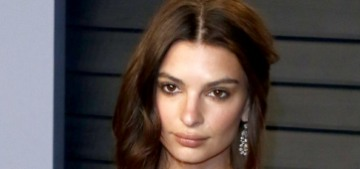 Emily Ratajkowski looked like the saddest newlywed ever at the VF Oscar party