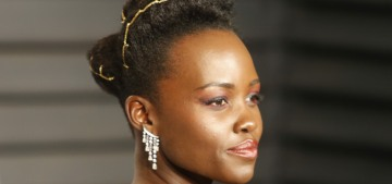 Lupita Nyong'o in Armani at the VF Oscar party: stunning or boring?