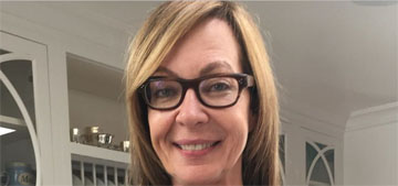 Allison Janney celebrates her Oscar win with Mom cast and crew