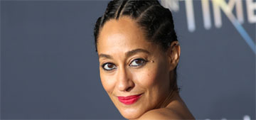 Tracee Ellis Ross stripped down to her underwear in a theater for her 40th birthday