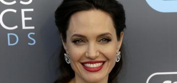 Angelina Jolie took Vivienne & Knox to see the rebooted 'Tomb Raider' this weekend