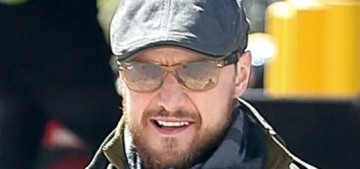James McAvoy pap-strolled with his girlfriend of two years, Lisa Liberati