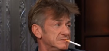 Sean Penn smoked on 'The Late Show' & talked sh-t about Robin Wright's parenting