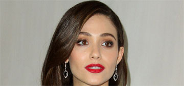 Emmy Rossum has curly hair now too, but hers is natural and not a perm