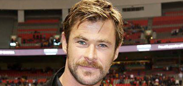 Chris Hemsworth's new mustache: hot or pass?