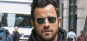 Justin Theroux is 'enjoying his new single life' & 'just doing his thing' in New York