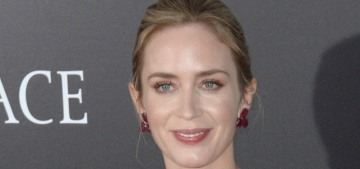 Emily Blunt in red & pink Oscar de la Renta: lovely or mismatched?