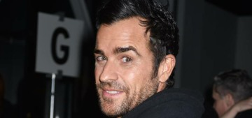 Justin Theroux is so edgy, his favorite food is turkey burgers with onion rings