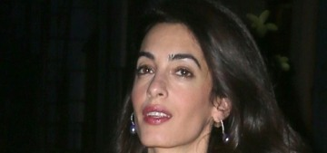 Amal Clooney in a yellow Lanvin coat for her date-night: Big Bird chic or fine?