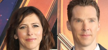 Benedict Cumberbatch & Sophie Hunter attended the 'Avengers: Infinity War' UK event