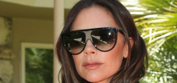 Victoria Beckham celebrated her 44th b-day with a watermelon shaped like a cake
