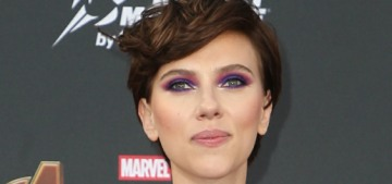 Scarlett Johansson is red-carpet official with Colin Jost at the 'Avengers' premiere