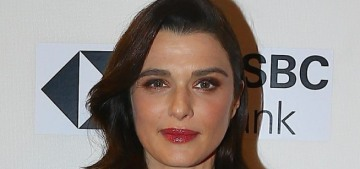Rachel Weisz looks lovely, shows off her bump in a terrible Chloe gown