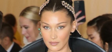 Bella Hadid in H&M Conscious at the Met Gala: dark gothic glamour?