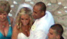 Pregnant Kendra Wilkinson gets married at the Playboy Mansion