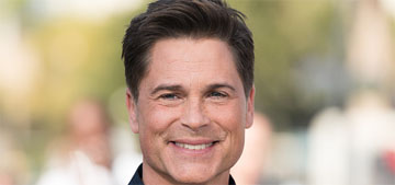 Rob Lowe sleeps better when his wife isn't there, she wakes him up