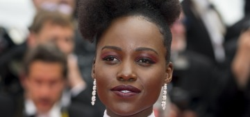 Lupita Nyong'o in white, feathery Dior at Cannes: gorgeous or uneventful?