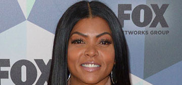 Taraji P. Henson shows off her engagement ring at the Fox upfronts