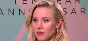 Kristen Bell: 'Hearing that I helped someone will always drive me to overshare'