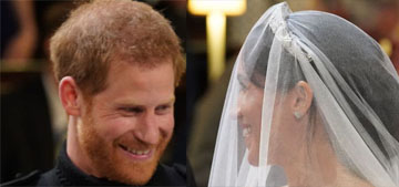 Prince Harry and Meghan looked happy and in love during the Royal Wedding