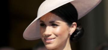 Duchess Meghan made her first postnuptial appearance at a palace garden party