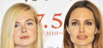 Elle Fanning Instagrams photos of 'mom' Angelina Jolie on 'Maleficent 2′ set