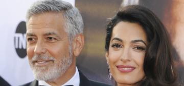 Amal Clooney wear pink Prada to George's AFI Lifetime Achievement Award