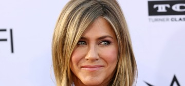 Jennifer Aniston in Lacroix at the AFI-George Clooney gala: pretty or boring?