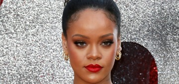 Rihanna looked like a fancy baked potato in Poiret at the UK 'Ocean's Eight' premiere