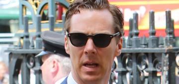 Benedict Cumberbatch & Sophie attended Stephen Hawking's memorial service