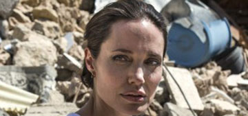 Angelina Jolie went on a UNHCR trip to Mosul, Iraq while Brad was visiting the kids