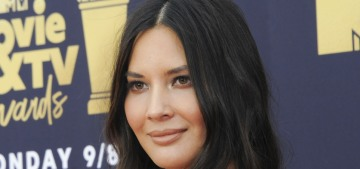 Olivia Munn in velvet Galvan at the MTV Movie Awards: lovely or jacked?