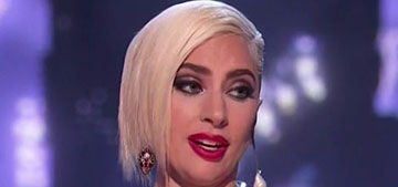 Lady Gaga in a McQueen corset at the MTV Awards: sleek and fresh?