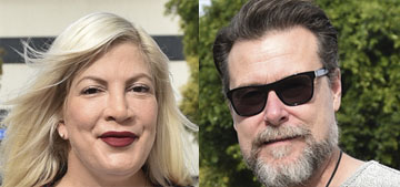Tori Spelling photoshopped a body positivity bathing suit pic: funny or sad?