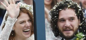 Kit Harington & Rose Leslie got married close to her family's Scottish castle