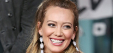 Hilary Duff looks thrilled in the video of her gender reveal party
