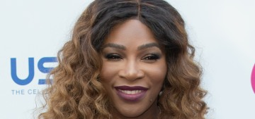 Serena Williams wore acid-washed denim to the Wimbledon WTA party