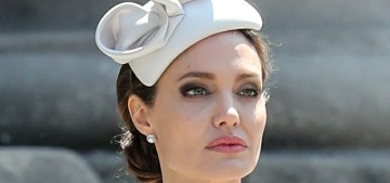 Angelina Jolie visited the American Memorial Chapel within St. Paul's Cathedral