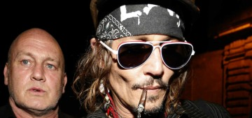Johnny Depp looks profoundly unwell in the Rome stop of his band's tour