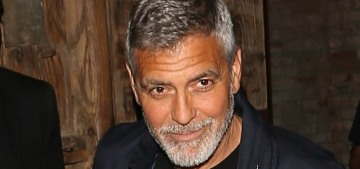 George Clooney was in a motorcycle accident in Sardinia, but it's not serious?